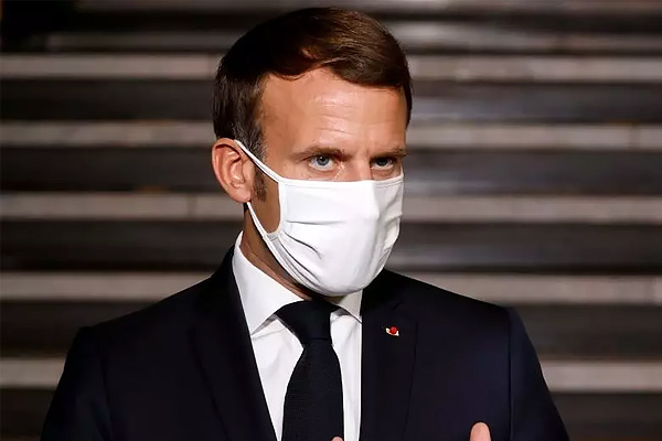 French President Emmanuel Macron Ordered Nationwide Lockdown And Said Schools Would Be Closed For Th