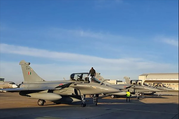 The fourth consignment of Rafale fighter aircraft reached India without stopping from France