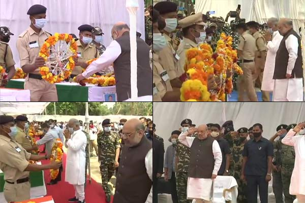 Amit Shah paid tribute to martyred soldiers