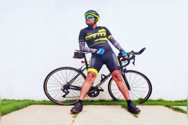 lieutenant colonel Bharat Pannu Cycled 6 Thousand Km In 14 Days