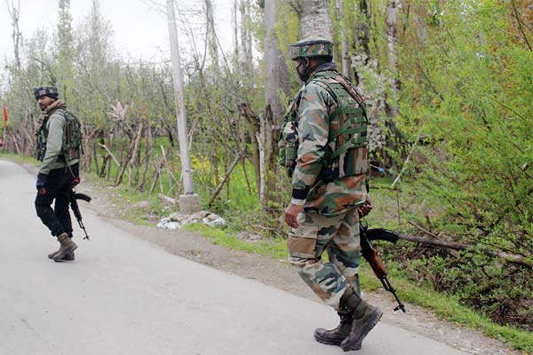 Encounter between security forces and terrorists hiding in religious place in Tral