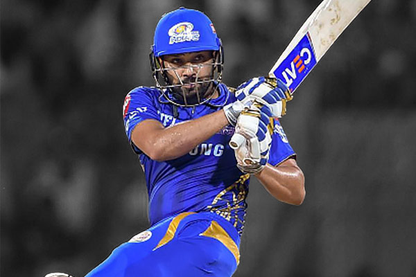 Rohit Sharma in Mumbai Indians Jersey