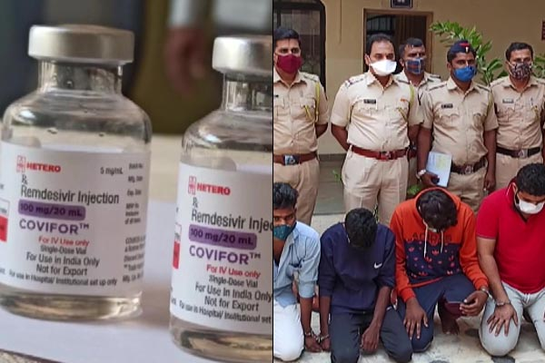 four arrested selling paracetamol in Remdesivir vial